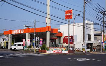 今市中央ガソリンスタンド外観